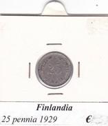 FINLANDIA   25 PENNIA  1929  COME DA FOTO - Finlandia