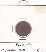 FINLANDIA   25 PENNIA  1940  COME DA FOTO - Finlandia