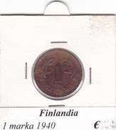 FINLANDIA   1 MARKKA  1940  COME DA FOTO - Finlandia