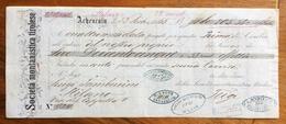 CAMBIALE  SOC.MONTANISTICA TIROLESE ACHENRAIN  1865  CON INTERESSANTI FIRME AUTOGRAFE E MARCA DA BOLLO - Cambiali