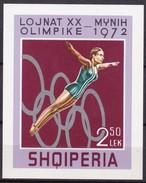 1972, Albanien,  Block 45, Olympiade München. MNH ** - Albanie
