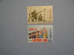 Australie 1991 Yvert 1199/200 ** Tobrouk  Femmes En Guerre  Scott 1207/8  Michel 1241/2  SG 1283/4 - 1990-99 Elizabeth II