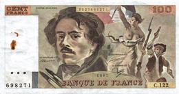 CENT FRANCS EUGENE DELACROIX - 1962-1997 ''Francs''