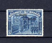 1919   Timbres 1915-19 Surchargé « ALLEMAGNE-DUITSCHLAND », 53**, Cote 250 €, - Oorlog 14-18