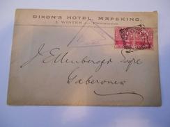 CAP DE BONNE ESPERANCE - Env Censurée De L'hotel Dixon à Mafeking Avec Le N° 54 En Paire - Janv 1915 Sans Doute - P21462 - Afrique Du Sud (...-1961)
