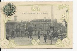 Chalons Sur Saone  Place De L'Obelisque  Catre En Relief - Chalon Sur Saone