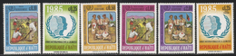 1985 Haiti  Youth Year Girl Guides  Drum  Complete Set Of 6 MNH - Haiti