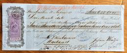 CAMBIALE  1867 STEINBUHL DI 657,84 L.IT.  CON FIRME AUTOGRAFE E MARCHE DA BOLLO INTERESSANTI - Cambiali