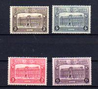 1929-30  Hôtel Des Postes à Bruxelles, CF  170 / 173*, Cote 38,50 €, - Chemins De Fer