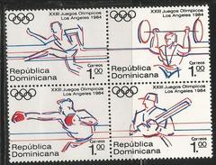 1984 Dominican Republic Olympics  Complete Block Of 4 MNH - Dominicaanse Republiek