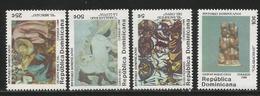 1984 Dominican Republic Art Paintings Sculpture  Complete Set Of 4 MNH - Repubblica Domenicana