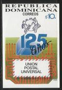 1999 Dominican Republic UPU Souvenir Sheet  MNH - Repubblica Domenicana