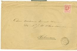NEDERLAND BRIEFOMSLAG Uit 1886 Gelopen Van KLEINRONDSEMPEL OUD-BEIJERLAND Naar HILVERSUM * NVPH 21 (10.626h) - Period 1852-1890 (Willem III)