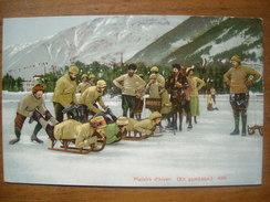 (sport D'hiver) En Gymkana, Vers 1910. Etat SUP. - Sports D'hiver