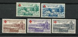 Líbano_1947_A Beneficio De La Cruz Roja. Correo Aéreo - Líbano