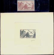 BIRDS-WANDERING ALBATROSS-ARTIST SIGNED SUNKEN PROOF WITH STAMP-FR OCEANIC SETTLEMENTS-1948-RARE-PA1-41 - Marine Web-footed Birds