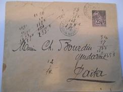 NOUVELLE CALEDONIE - Env De La Banque De L'Indochine - Nouméa Pour Laïta - Avec N°54 - Dos Un Peu Déchiré -1891 - P21471 - Briefe U. Dokumente