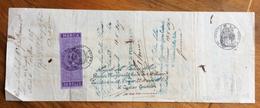 CAMBIALE  MILANO PARIS 1865 DI2388 FRANCHI I CON INTERESSANTI FIRME AUTOGRAFE E MARCA DA BOLLO - Cambiali