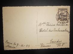 Vatican , Carte De 1933 Pour Lourdes - Lettres & Documents