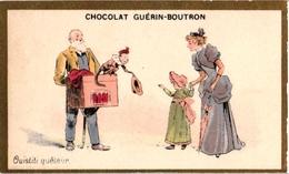 2Trade Cards Chromo Music Instrument Orgue De BarbariePUB  Chocolat Guérin Boutron Imp Champenois Chatellereux Litho - Kaufmanns- Und Zigarettenbilder
