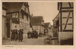 LPF4 - GROUPES DE FEMMES EN COSTUME ALSACIEN A ENGWILLER  AOÛT 1925 - Europe