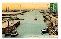 C27  DUNKERQUE L ENTREE DU PORT 1913 - Dunkerque