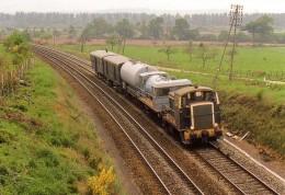 AL 293 - Train Désherbeur - Locotracteur Y 7672 Vers Beslè Commune De GUEMENE PENFAO - Loire Atlantique 44 - SNCF - Guémené-Penfao