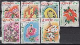 Nicaragua 1326-29 + LP/PA 1056-58 (0) – 1984 – Fleurs – Abeilles / Bloemen - Bijen / Flowers - Bees - Nicaragua