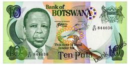BOTSWANA 10 PULA ND(1999) Pick 20a Unc - Botswana