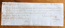 CAMBIALE  GENOVA MADRID 1782   TERZA DI CAMBIO CON INTERESSANTI   FIRME AUTOGRAFE - Wissels