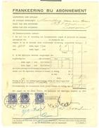 FACTUUR VOOR FRANKERING BIJ ABONNEMENT * POSTZEGELS GESTEMPELD MET STEMPEL ZIEUWENT  (10.626p) - Netherlands
