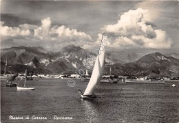 Cartolina Marina Di Carrara Panorama Barche 1949 - Massa