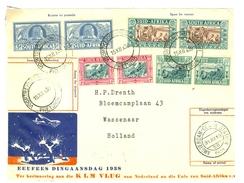 BRIEFSTUKJE HERINNERING KLM VLUG VAN NL NAAR UNIE Van SUID-AFRIKA VOORTREKKERSMONUMENT PRETORIA Naar WASSENAAR (10.626r) - Africa (Varia)