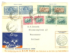 BRIEFSTUKJE HERINNERING KLM VLUG VAN NL NAAR UNIE Van SUID-AFRIKA VOORTREKKERSMONUMENT PRETORIA Naar WASSENAAR (10.626r) - Postzegels