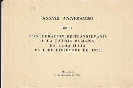 59334- GREAT UNION OF TRANSYLVANIA TO ROMANIA, MADRID, ROMANIAN EXILE IN SPAIN, BOOKLET, 1956, ROMANIA - Carnets