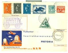 BRIEFSTUK DINGAANSVLUCHT Uit 1938 KLM Van AMSTERDAM  Naar SUID-AFRIKA Naar VOORTREKKERSMONUMENT PRETORIA (10.626q) - Period 1891-1948 (Wilhelmina)