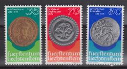 Liechtenstein 614-16 ** MNH – Monnaies – Munten – (1977)