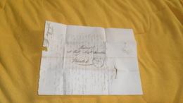 LETTRE ANCIENNE  DE 1833. / SAUMUR A NANTES. / CACHETS + TAXE. - Marcophilie (Lettres)
