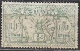 Nouvelles Hebrides 1911 Michel 27 Cote (2005) 3.20 Euro Armoirie Cachet Rond - Gebraucht