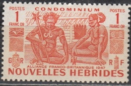 Nouvelles Hebrides 1953 Michel 160 Neuf ** Cote (2005) 30.00 Euro Indigènes - Französische Legende