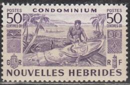 Nouvelles Hebrides 1953 Michel 159 Neuf ** Cote (2005) 1.20 Euro Indigène Et Mât Totémique - Légende Française