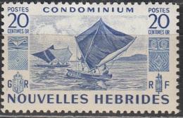 Nouvelles Hebrides 1953 Michel 155 Neuf ** Cote (2005) 1.20 Euro Voilier - Légende Française