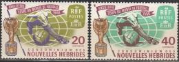 Nouvelles Hebrides 1966 Michel 234 - 235 Neuf ** Cote (2005) 5.00 Euro Coupe Du Monde De Foot à Londres - Légende Française
