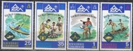 Nouvelles Hebrides 1975 Michel 407 - 410 Neuf ** Cote (2005) 15.90 Euro Scoutisme Jamboree - Légende Anglaise