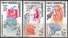 Nouvelles Hebrides 1976 Michel 423 - 425 Neuf ** Cote (2005) 3.60 Euro 100 Ans Téléphone Alexander Graham Bell - Légende Anglaise