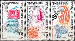 Nouvelles Hebrides 1976 Michel 426 - 428 Neuf ** Cote (2005) 4.50 Euro 100 Ans Téléphone Alexander Graham Bell - Légende Française