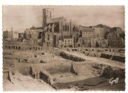 Saint Malo (35) Saint Malo En Ruines - Grande Rue,rue Poreon Et La Cathedrale - Saint Malo