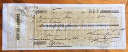 CAMBIALE HERITIER & GUIRAND PARIS  1872  DI 3000 FT ORO  CON INTERESSANTI   FIRME AUTOGRAFE E MARCHE DA BOLLO - Cambiali