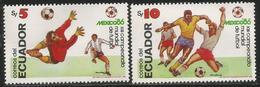 1986 Ecuador World Cup Football  Complete Set  Of 2 MNH - Ecuador