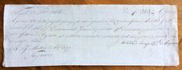 CAMBIALE MANOSCRITTA NAPOLI 1814  DI 240 ARGENTONI  CON INTERESSANTE   FIRMA AUTOGRAFA DI  MICHELE DI SANGRO - Cambiali